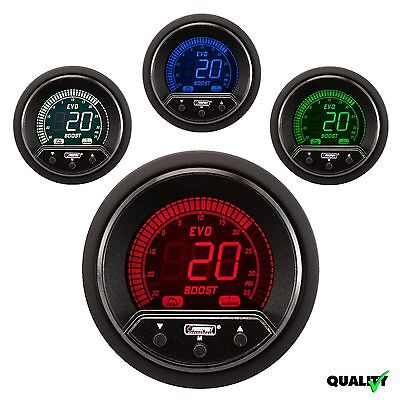 PROSPORT 52mm EVO Premium Series Digital 4 Colors Led Boost Gauge PSI