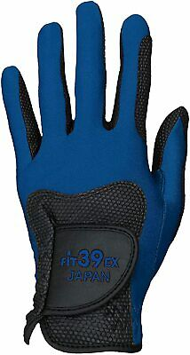 Fit 39 Fit39EX Golf Glove White Blue Black Premium Synthetic Leather Japan