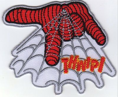 Spiderman Web 8cm X 65cm Logo Sew Ironed On Badge Embroidery Applique Patch