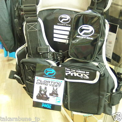PROX Fishing Game Floating Vest PX399 Black/Black adults: size Free*=