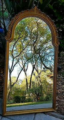 Antique Victorian Art Nouveau Gold Gesso Wood Frame Wall Mirror GRAND RAPIDS