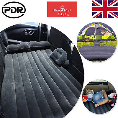UK Car Back Seat Camping Travel Mattress Inflatable Bed Air Bed Outdoor Rest Bed