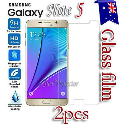 2X Samsung Galaxy Note 5 Tempered Glass / Plastic Screen Protector Film Guard