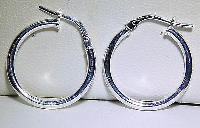 Sterling Silver (925) Ladies Hoop Creole Earrings (G5256)