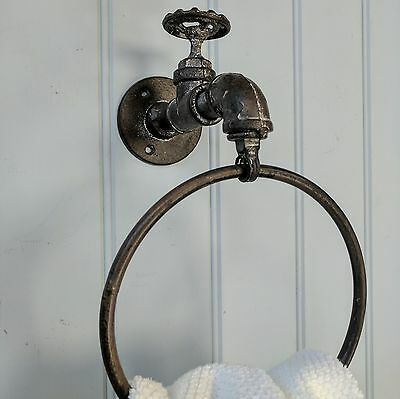 Industrial Style Tap Towel Holder Wall Rack