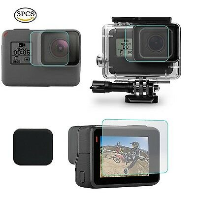 [3pcs] Tempered Glass Screen Lens Protector for GoPro Hero 5 Action Camera NEW