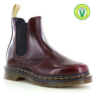 Dr Martens 2976 Unisex Vegan Chelsea Boots Cherry Red