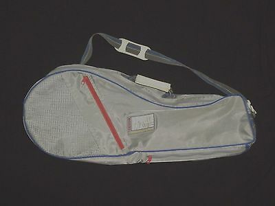 Sports Mate 2 Racket Padded Gray/Blue/Pink Tennis Bag With 3 Per. Pockets #3176