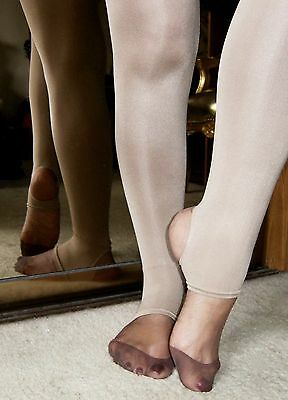 *REDUCED* 70 den Opaque Stirrup Exercise Dance/Fitness Tights-S/M, M/L, L and XL