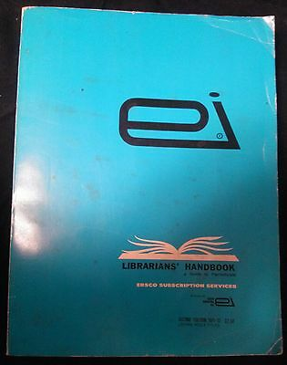 Librarians' Handbook A Guide To Periodicals 1971-72 Ebsco Subscription Services