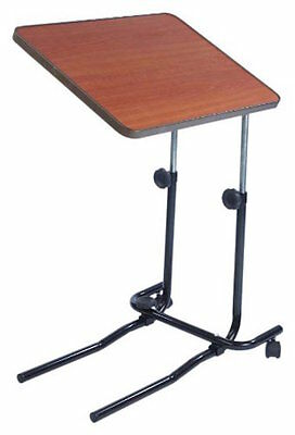 Multipurpose Over Bed / Chair Table with Adjustable Height Tilting Top 2 Castors