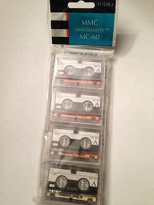 Memorex  MC60 4 Pack Microcassette Tapes  60 minute