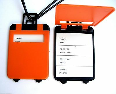 Etiqueta Identificación Maleta Naranja Viaje Trolley Bag Luggage Tag Label Th