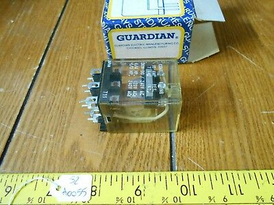 Guardian Electric 1515P Series Relay A410-366358-12, 12VDC, New OS