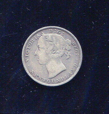 Newfoundland - Beautiful Scarce Silver 20 Cents, 1896, Small 96