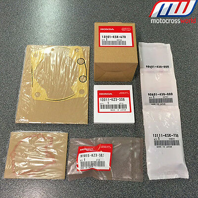 BRAND NEW In The Box Complete Genuine OEM Honda Piston Kit for CR250 2002-2004