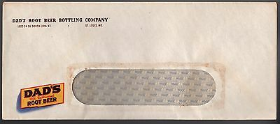 "DAD'S ROOT BEER BOTTLNG CO. Plain ENVELOPE (1) 4 1/8"" X 9 1/2""  St. Louis, MO."