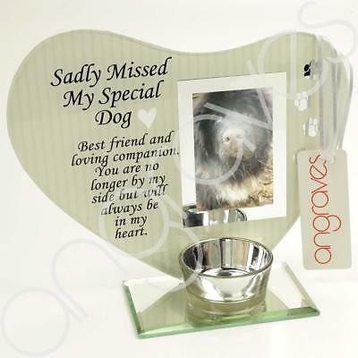 Sadly Missed My Special Dog Photo Frame Tribute Memorial Plaque 2 x 3 Aperture