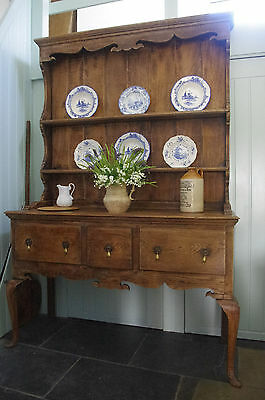Antique Solid Oak Dresser Kitchen Farmhouse Cottage Vintage Rustic Primitive