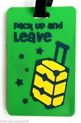 Tarjeta Identificación Maleta Pvc Viaje Pack Up And Leave Luggage Tag Label Th
