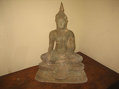 Very Old 19th century Sukhothai style Buddha from Thailand.