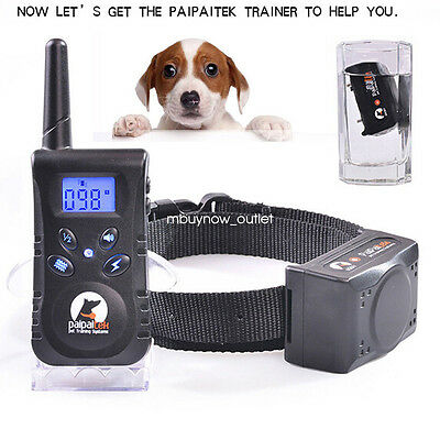 Waterproof Electric Dog Shock Trainer E-Collar Remote Pet Safe Training Collar
