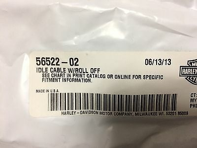 Harley Idle Cable w/Roll Off 56522-02