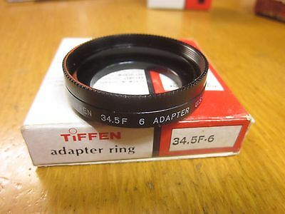 Tiffen 34.5mm Thread to Series VI (6) Filter Adapter Step Up Ring Screw In