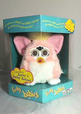Furby Baby Light Pink 1999 Interactive Toy In Excellent Box