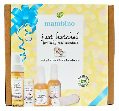 Mambino Organics: Just Hatched Baby Arrival Kit, 5 piece