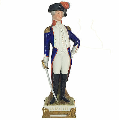 """Scheibe Kister 9-3/4"""" Napoleonic Figure of LA FAYETTE (US War of Independence)"""
