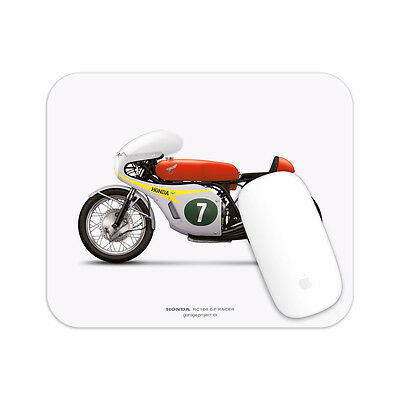 Honda RC166 GP Racer Motorcycle illustration Mouse Pad