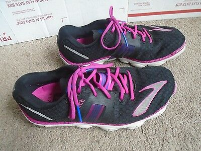 Brooks Pure Connect black/pink Women's athletic running shoes sz 7B