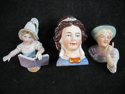 Antique Victorian Bisque porcelain Bust lot Excellent from museum collection