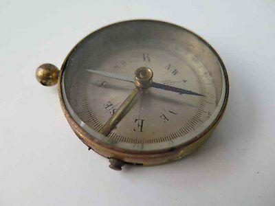 Vintage Antique Made in FRANCE Brass COMPASS