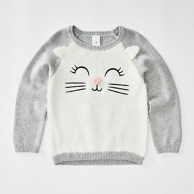 NEW Cat Face Knit Jumper Kids