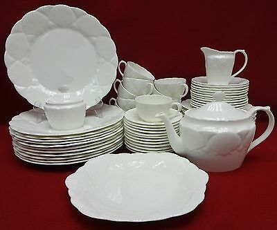 COALPORT china OCEANSIDE pattern 66-piece SET SERVICE for Twelve (12)
