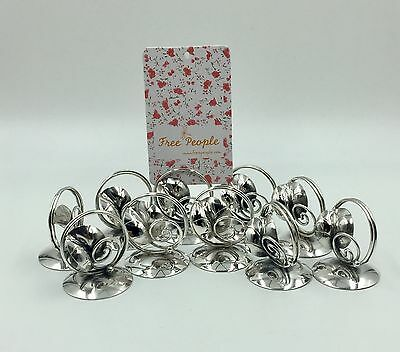Beautiful Sterling Silver Card Holders Set Of 10 By JM