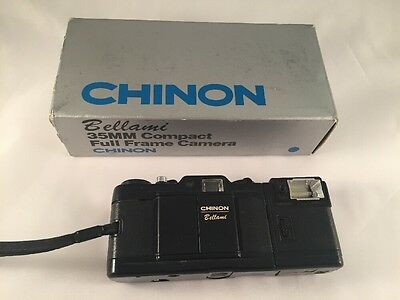 Chinon BELLAMI 35mm Compact Film Camera with Original Box AS-IS