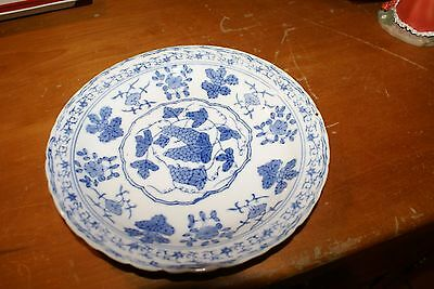 Antique Chinese  Porcelain Blue & White Plate 8""