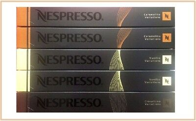 50 Capsules Nespresso Coffee - Flavour Pack (Caramel, Choc & Vanilla). Can swap