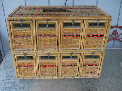 Vintage Stacking Bird Pigeon Carrier With 8 Individual Cubbies