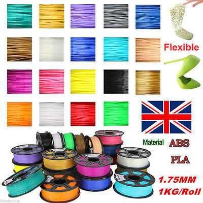 3D Printer Filament ABS/PLA 1Kg 1.75MM Roll Pack For Huxley Makerbot UP Leapfrog