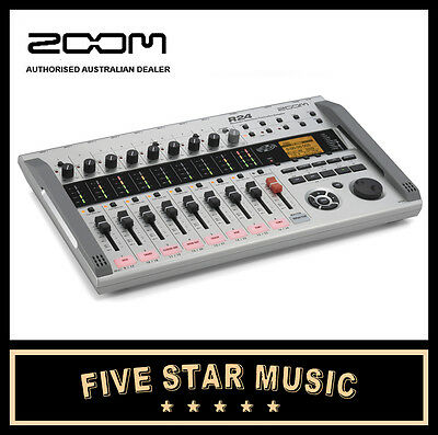 ZOOM R24 24-TRACK DIGITAL RECORDER with CONDENSER MICROPHONES & CUBASE LE - NEW