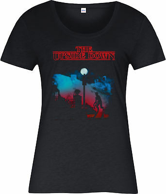 Stranger Things Ladies T-Shirt,The Upside Down The Exorcist Spoof