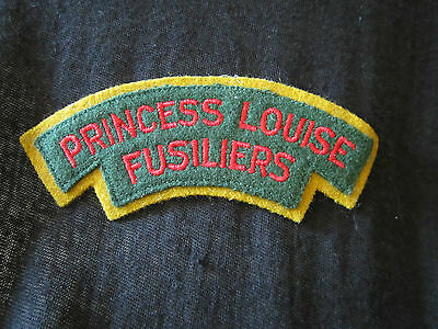 Badge Patch vintage Princess Louise Fusiliers embroidered felt