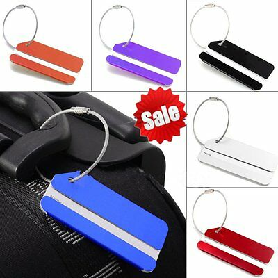 Aluminium Metal Travel Luggage Baggage Suitcase Address ID Tags Label Belts GT