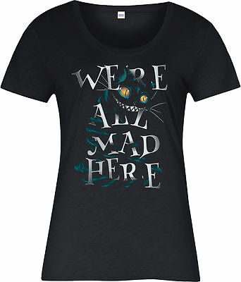 Alice's Adventures in Wonderland Ladies T-Shirt,Cheshire Cat