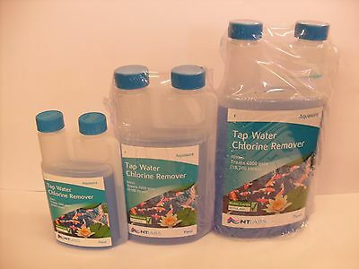 NT Labs Aquasure 250ml 500ml 1000ml. Pond Fish Water Tap Safe Treatment