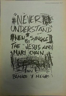 """The Jesus And Mary Chain Original Advert 15 X 11"""" Poster Size 23 Feb 1985"""